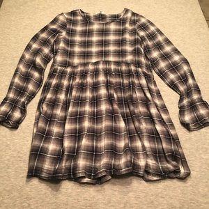 *EUC* BCBGeneration Plaid Babydoll Dress